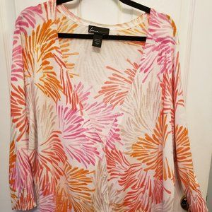 Lane Bryant Womens MultiColored Cardigan Sz 22/24